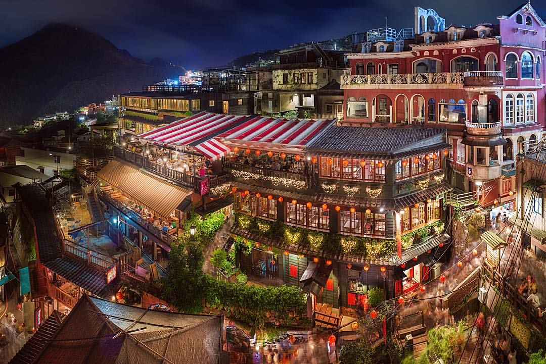 'Jiufen Old Town' The old gold mining town known as Jiufen, just under 2 hours out of Taipei, Taiwan Today it exists as mainly a little tourist town, with it's narrow cobbled laneways and scores of cafes and tea houses. I'm told that part of the...