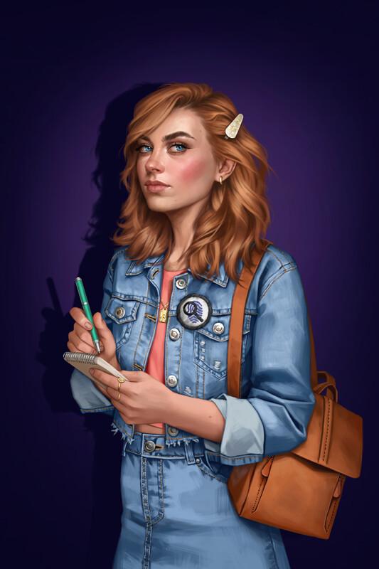 ArtStation Nancy Drew Covers, Fernanda Suarez Nancy