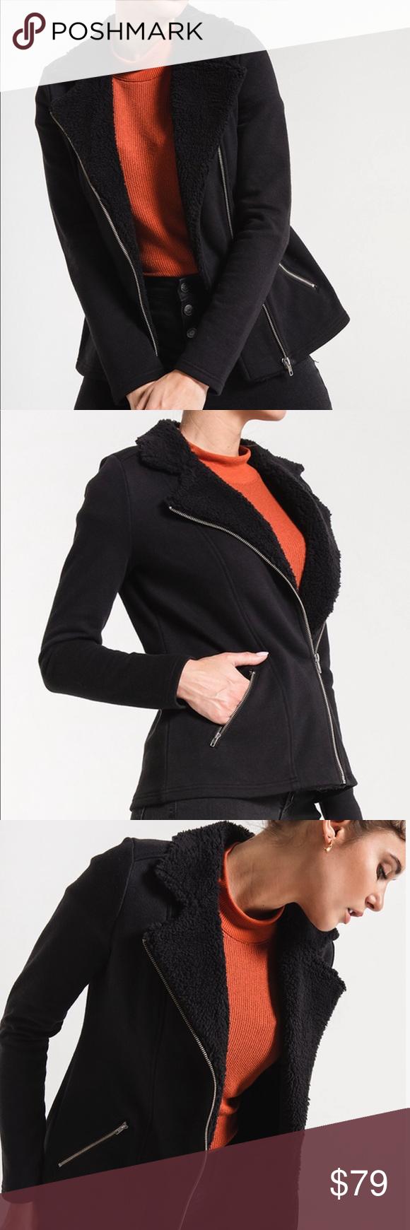 Sherpa Moto Jacket Jackets, Moto jacket, Clothes design