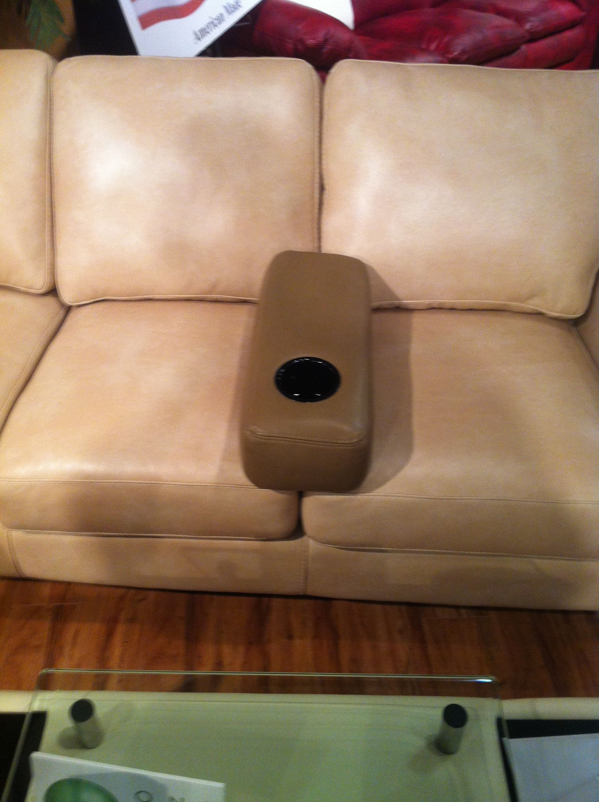 Here Is A Great Idea Add This All Leather Cup Holder To Any Sofa