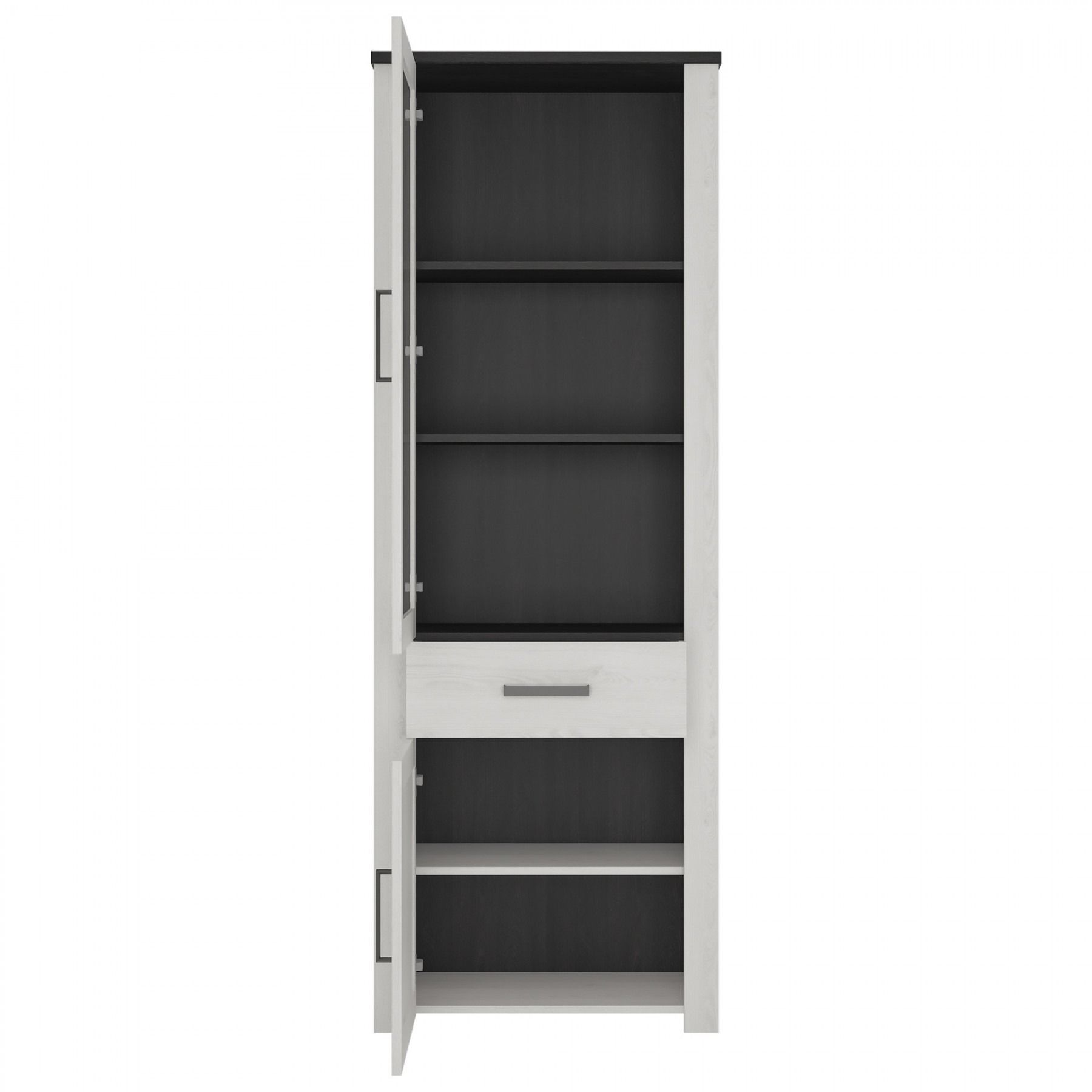 Provence Tall Narrow Glazed Cabinet 2 Door 1 Drawer   Provence   By  Collection