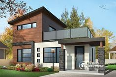 W1703 - Micro maison contemporaine à étage, 2 chambres, patio à l ...