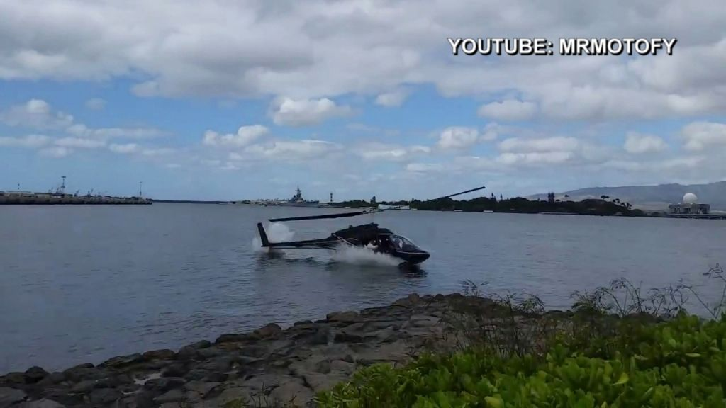 Helicopter Crashes Into The Ocean In Hawaii
