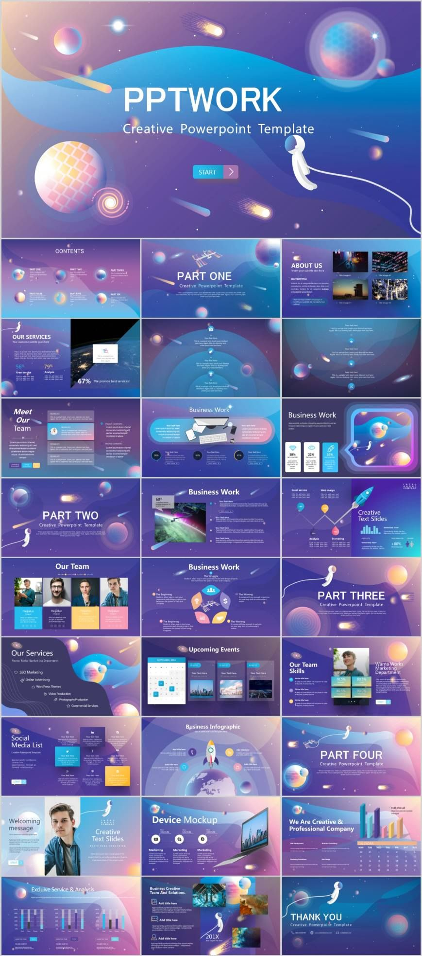 Professional Information Technology PowerPoint template