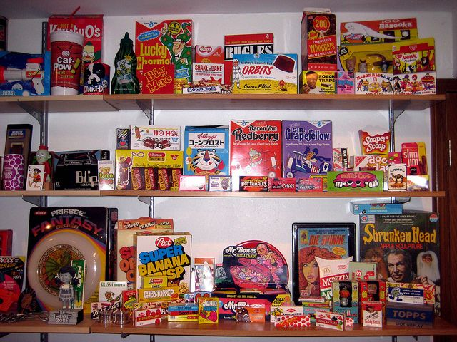 My brother's (reproduction) packaging display by JasonLiebig, via Flickr