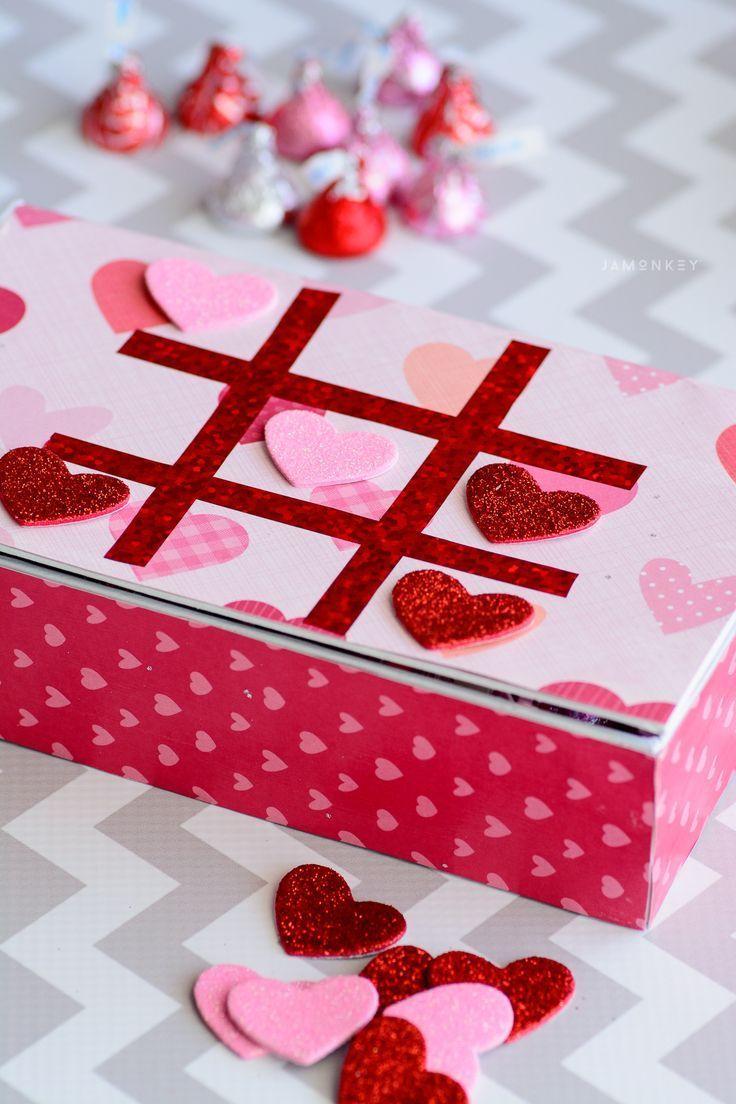DIY Tic Tac Toe Game Box   Valentine\'s Day Inspiration   Pinterest ...