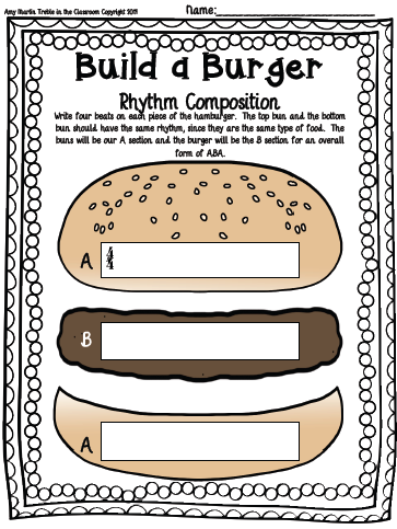 Build a burger composition template set treble in the classroom build a burger composition template set pronofoot35fo Choice Image