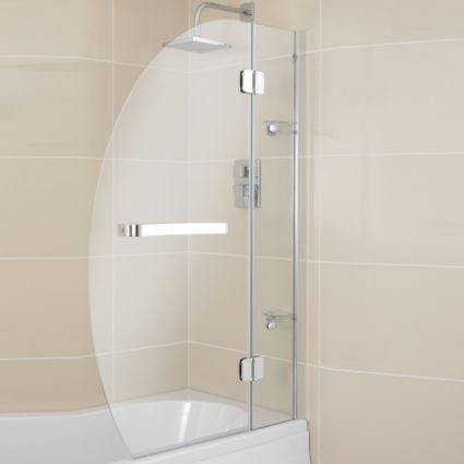 Cooke & Lewis Folding Oval Bath Screen (W)950mm: Image 1