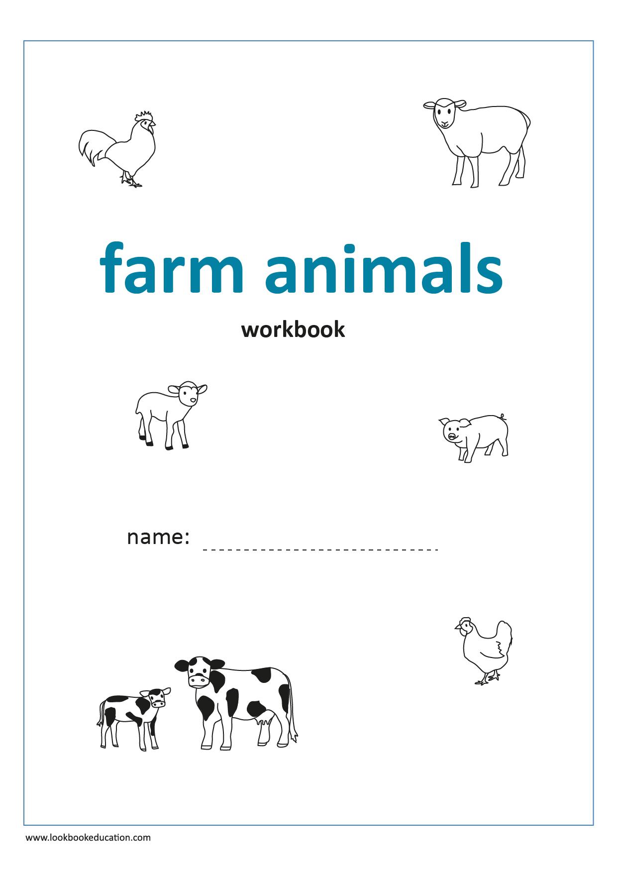 Workbook Farm Animals In