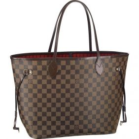 Louis Vuitton Pas Cher - Louis Vuitton Damier Ebene Canvas Neverfull N51105  : Louis Vuitton Pas