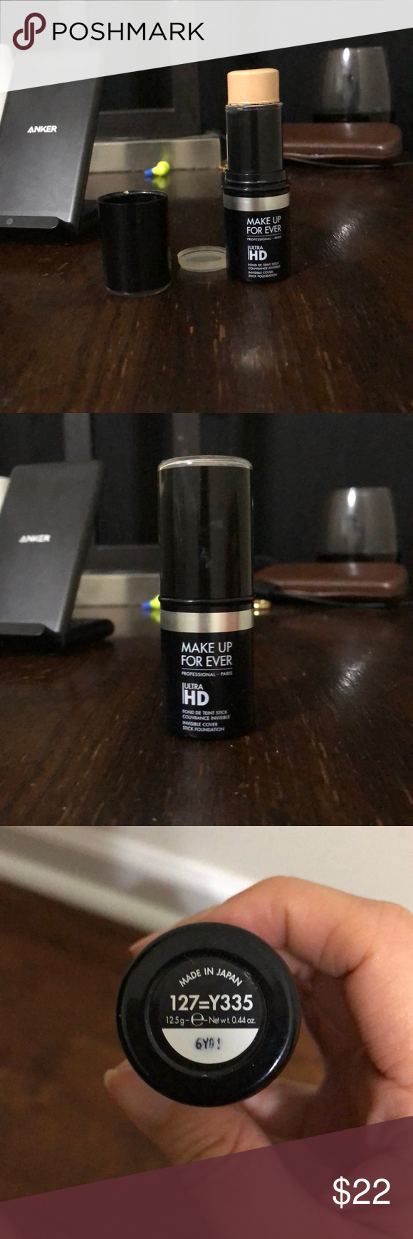 Make Up Forever Ultra HD Foundation Stick Shade 127=Y335
