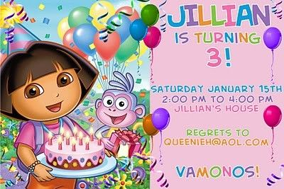 Dora birthday invitations templates free 3rd birthday party ideas dora birthday invitations templates free filmwisefo