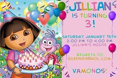 Dora birthday invitations templates free 3rd birthday party ideas dora birthday invitations templates free filmwisefo Choice Image