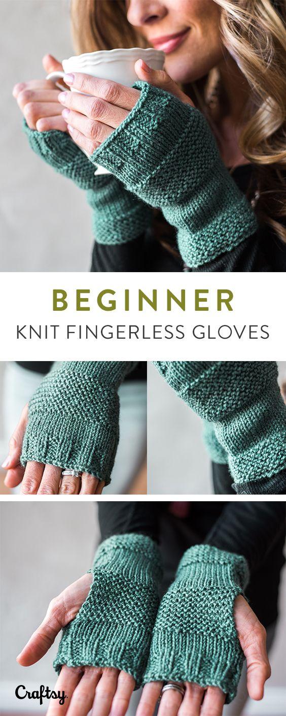 Beginner knit mitten kit - pattern, yarn and tutorial   Knit ...