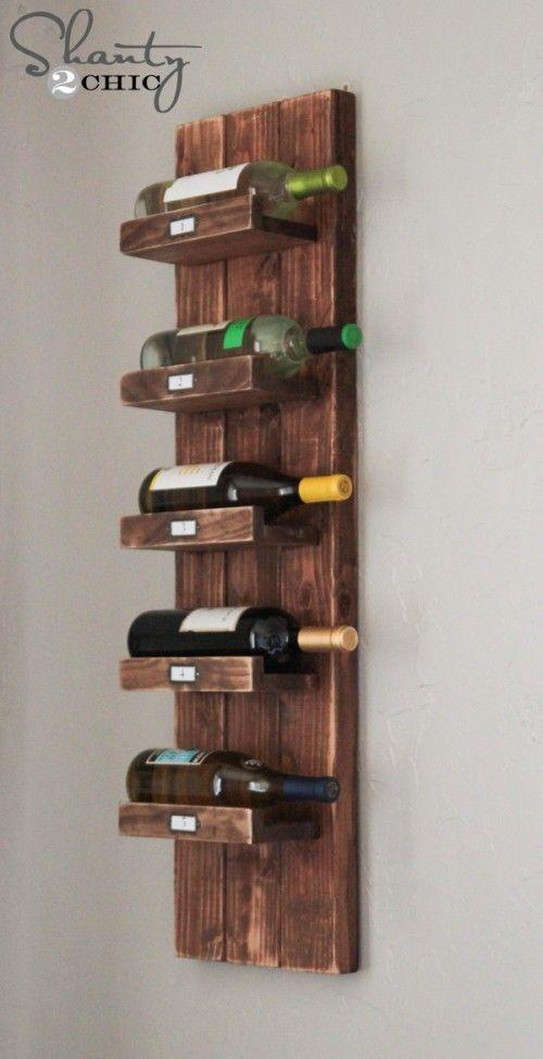 Diy Wine Rack Adega De Vinho Suspensa Adega De Parede Vinho Pallet