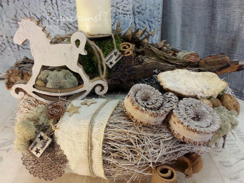 natur schaukelpferd nostalgischer adventskranz 1licht. Black Bedroom Furniture Sets. Home Design Ideas