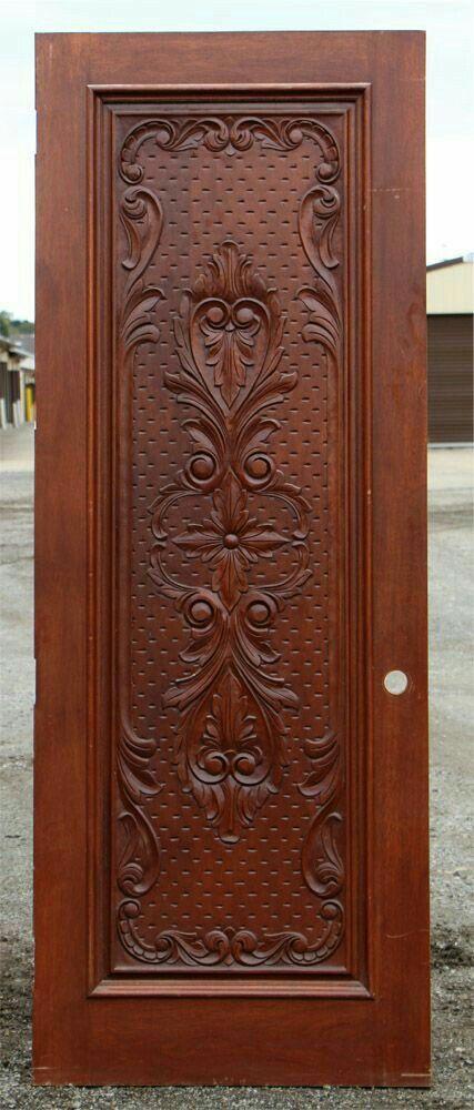 Modern Front Door Doors Carved Accessories Wooden Handles Wood Carvings Glass Art