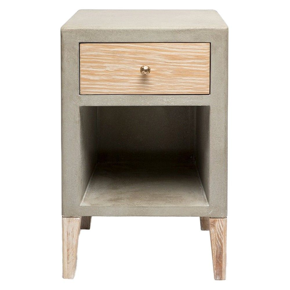 Made Goods Thorpe Single Nightstand Bedside Tables Nightstands Nightstand White Oak Wood