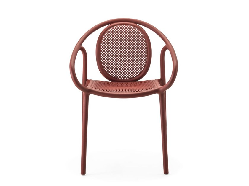 Download The Catalogue And Request Prices Of Remind 3735 By Pedrali Stackable Polypropylene Chair With Armrests Outdoor Dining Chairs Chair Contract Furniture