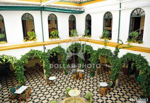 Patio de una casa andaluza, Cabra, provincia de Córdoba, España