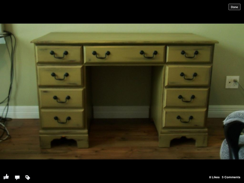 This is my redo desk using CeCe Caldwell chalk paint. Base is ...