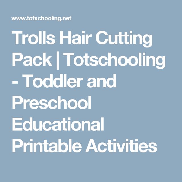 Trolls Hair Cutting Pack | Scissor skills, Activities and Motor skills