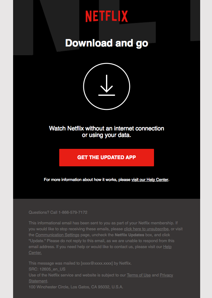 Netflix Email Design Email Newsletter Template Design Email Newsletter Template Email Design Inspiration