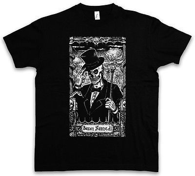 BARON SAMEDI I T-SHIRT Black Voodoo Bawon Haiti Samdi Loa Erzulie Magic Doll