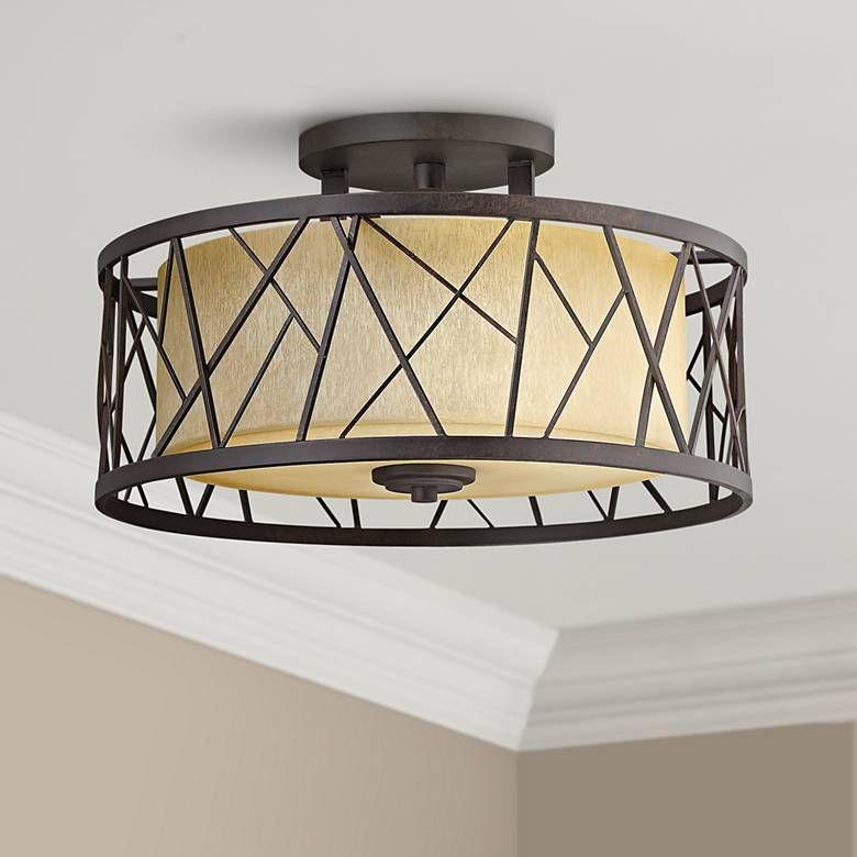 Nest 20 W Oil Rubbed Bronze Ceiling Light 8g025 Lamps Plus With Images Bronze Ceiling Lights Ceiling Lights Oil Rubbed Bronze