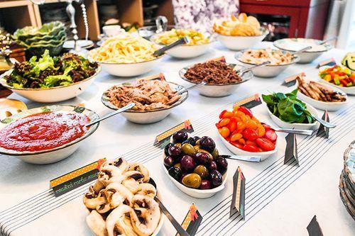 ide de repas de communion ou confirmation pas cher un pasta bar buffet de - Idee De Buffet
