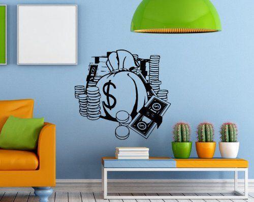 Wall Decal Vinyl Sticker Money Cash Treasure Art Design Kids Nursery ...