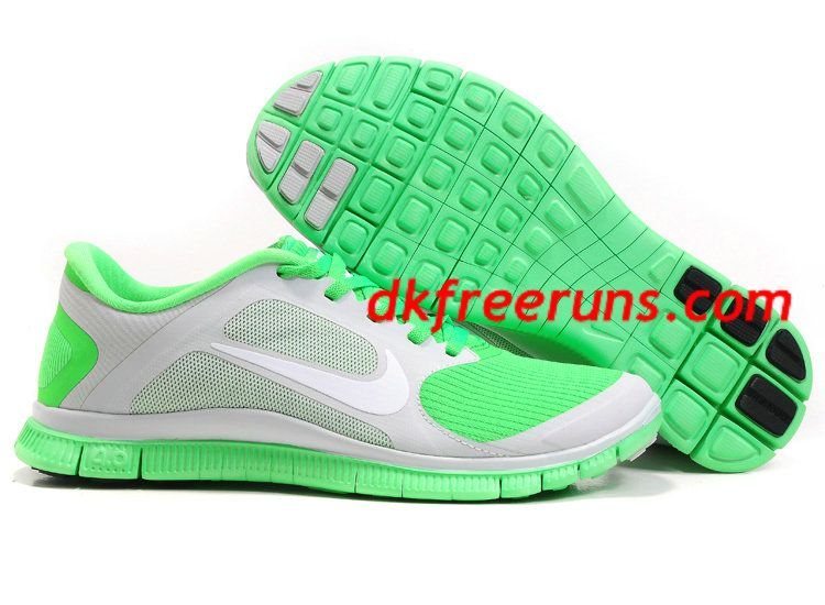 Womens Nike Free Pure Platinum White Poison Green Shoes Nike Free Run 3 -