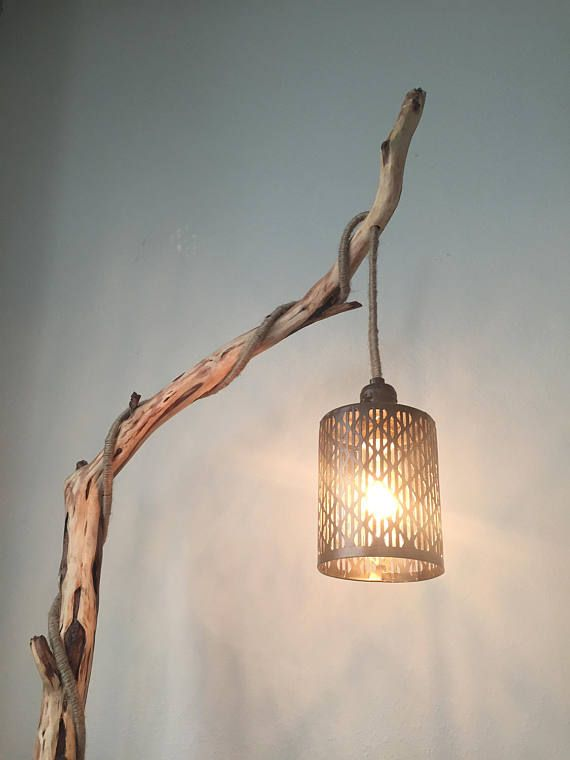 Rustic Floor Lamp Wood Floor Lamp Tree Branch Floor Lamp Rustic