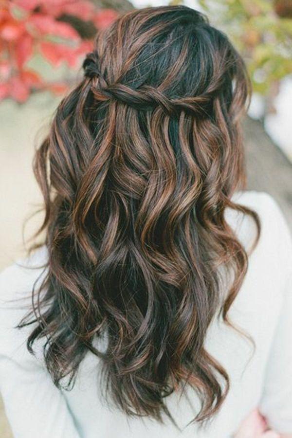 Von braune hinten haare Lange haare
