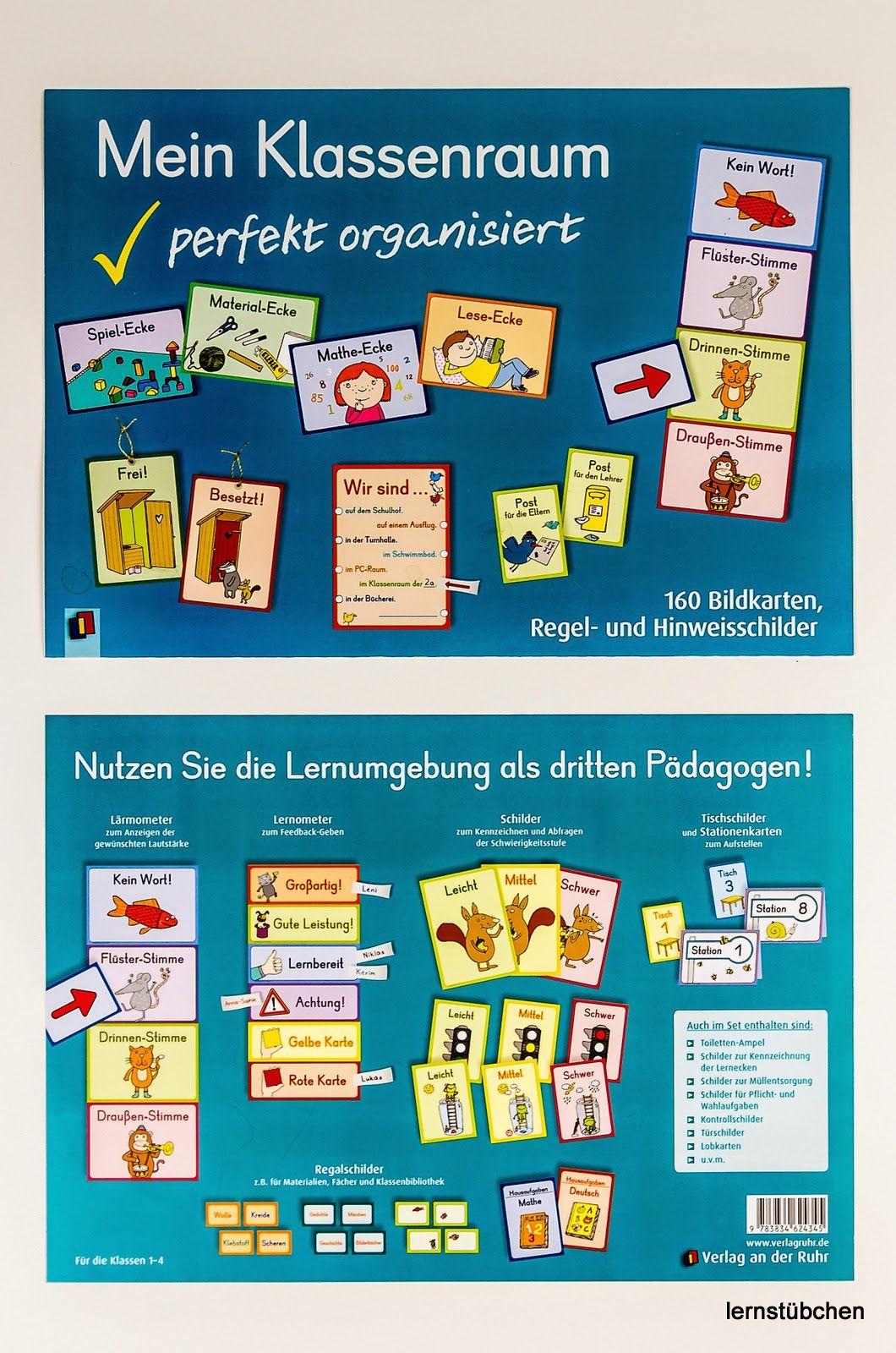 Klassenregeln grundschule bildkarten  Lernstübchen: Mein Klassenraum perfekt organisiert | learning for ...