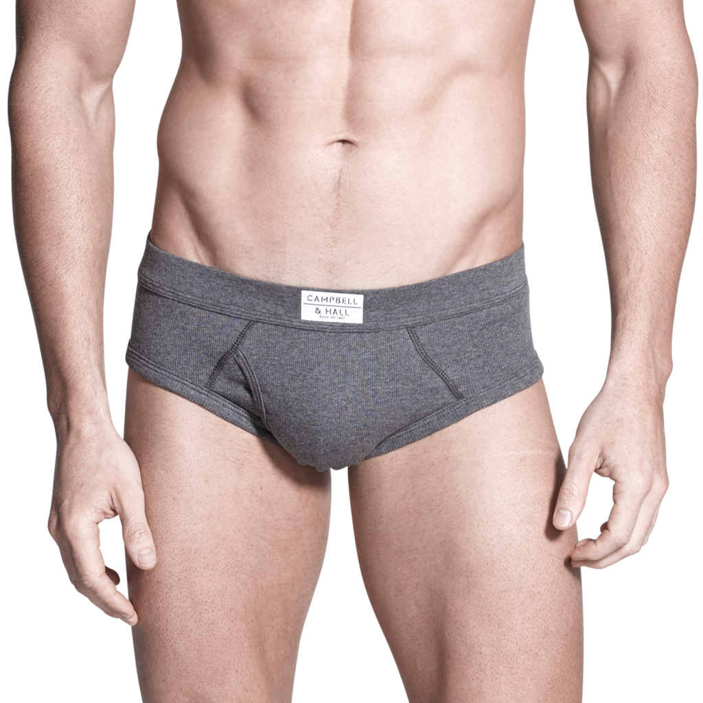 Campbell Rib Brief in Charcoal Marle | Campbell & Hall ...