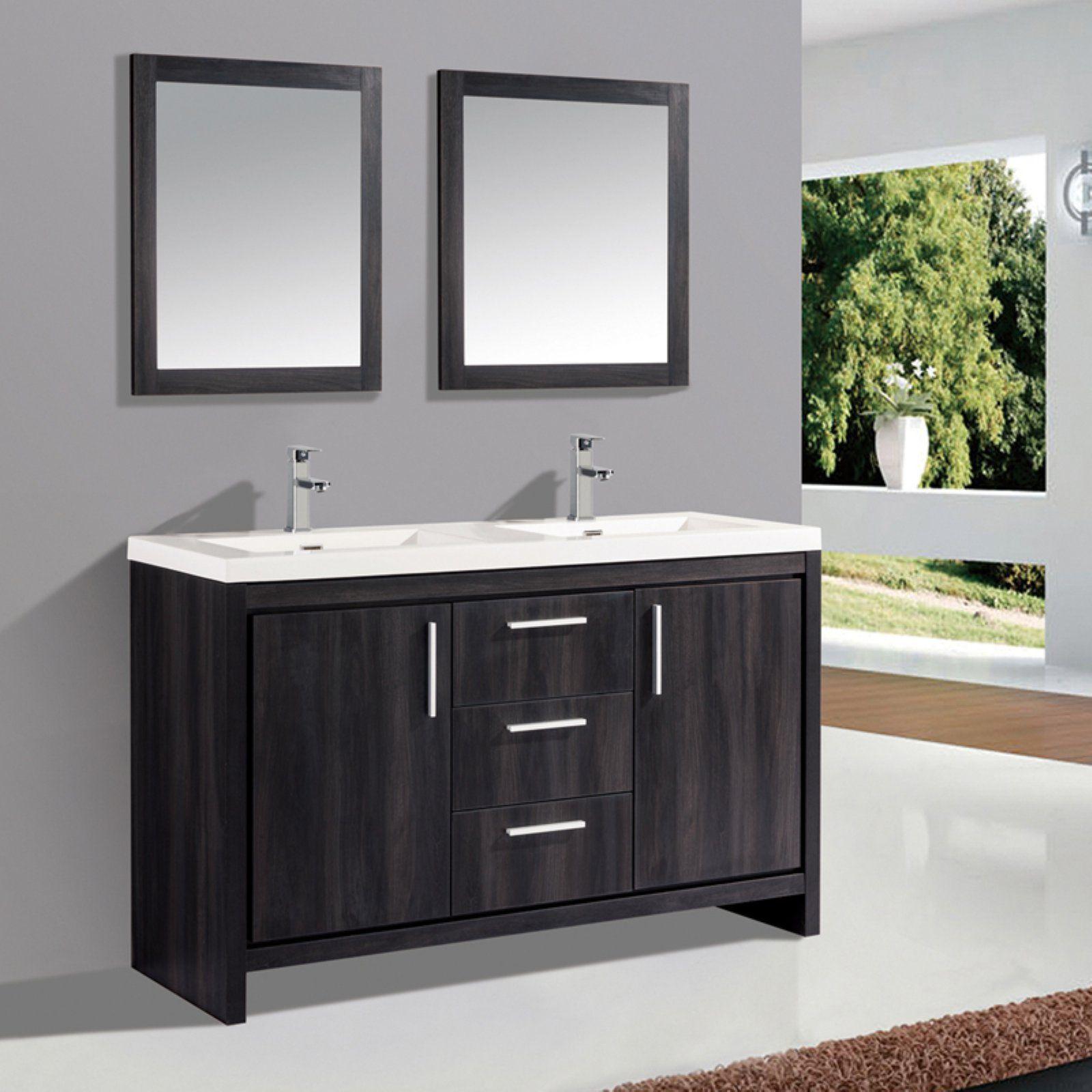 Mtd Vanities Miami 60 In Double Sink Bathroom Vanity Set Double
