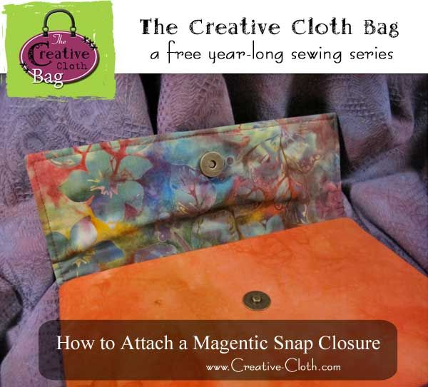 How to Attach a Magnetic Snap Closure | Sewing | Bags, Sewing