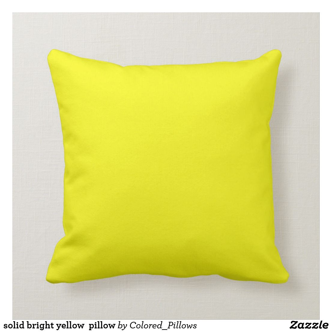 Solid Bright Yellow Pillow Bright Yellow Pillows Yellow Pillows