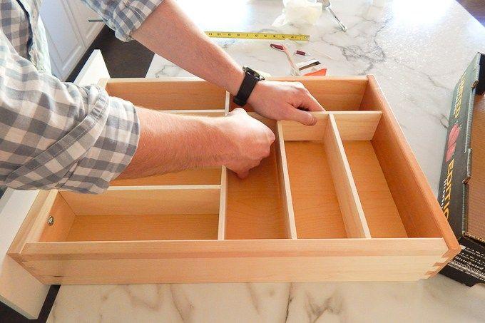 Diy Custom Wooden Drawer Organizers Wooden Drawer Organizer Kitchen Drawers Kitchen Drawer Organization