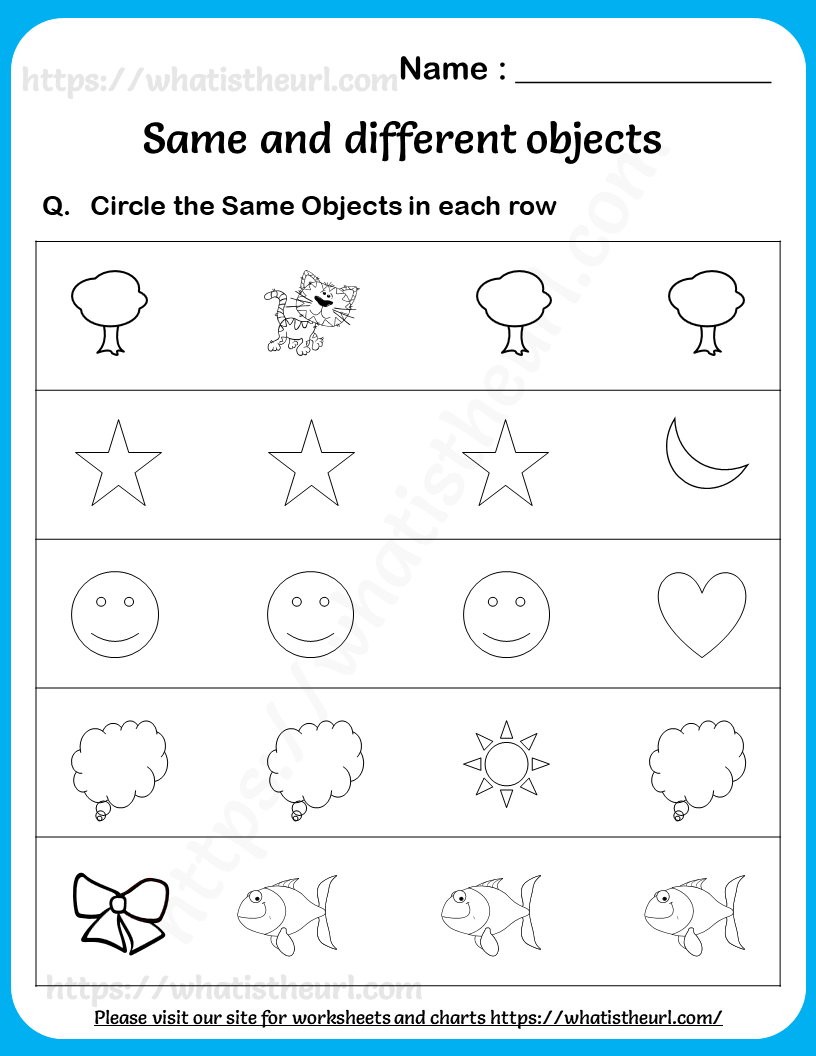 Circle The Same Objects Worksheets For Lower Kindergarten In 2021 Worksheets Worksheets For Kids Kindergarten [ 1056 x 816 Pixel ]
