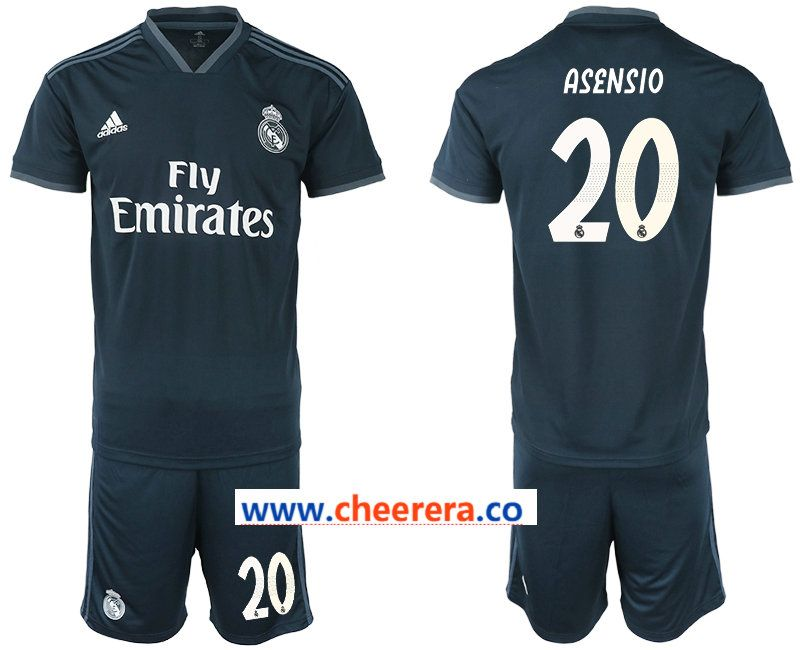 new style 7ad7e 09302 2018-19 Real Madrid 20 ASENSIO Away Soccer Jersey ...