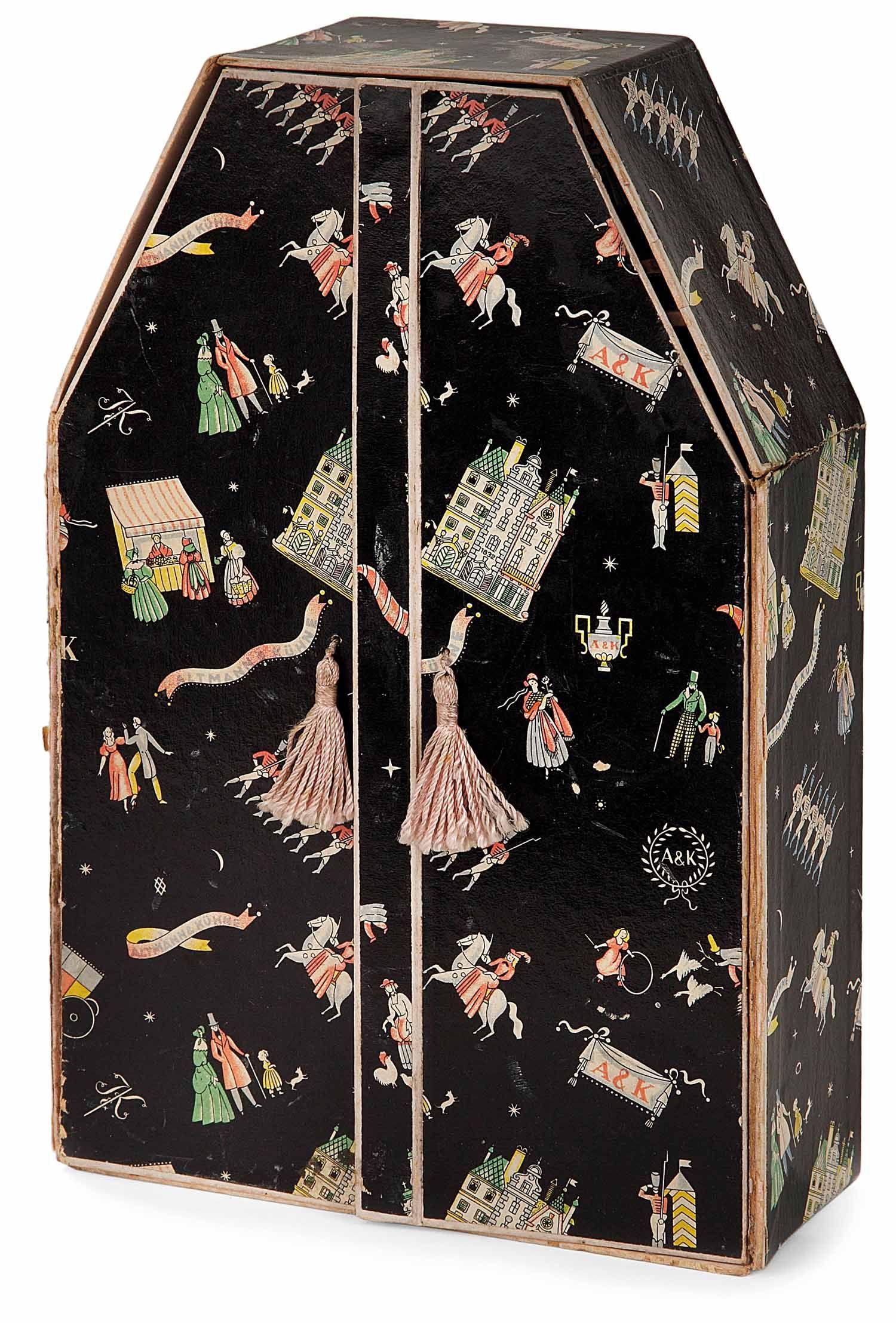 Dagobert Peche 1887 1923 Coffret A Bijoux Et A Rubans Formant Petite Armoire Rectangulaire A Fronton A Pans Jewelry Box Design Decorative Boxes Art Nouveau