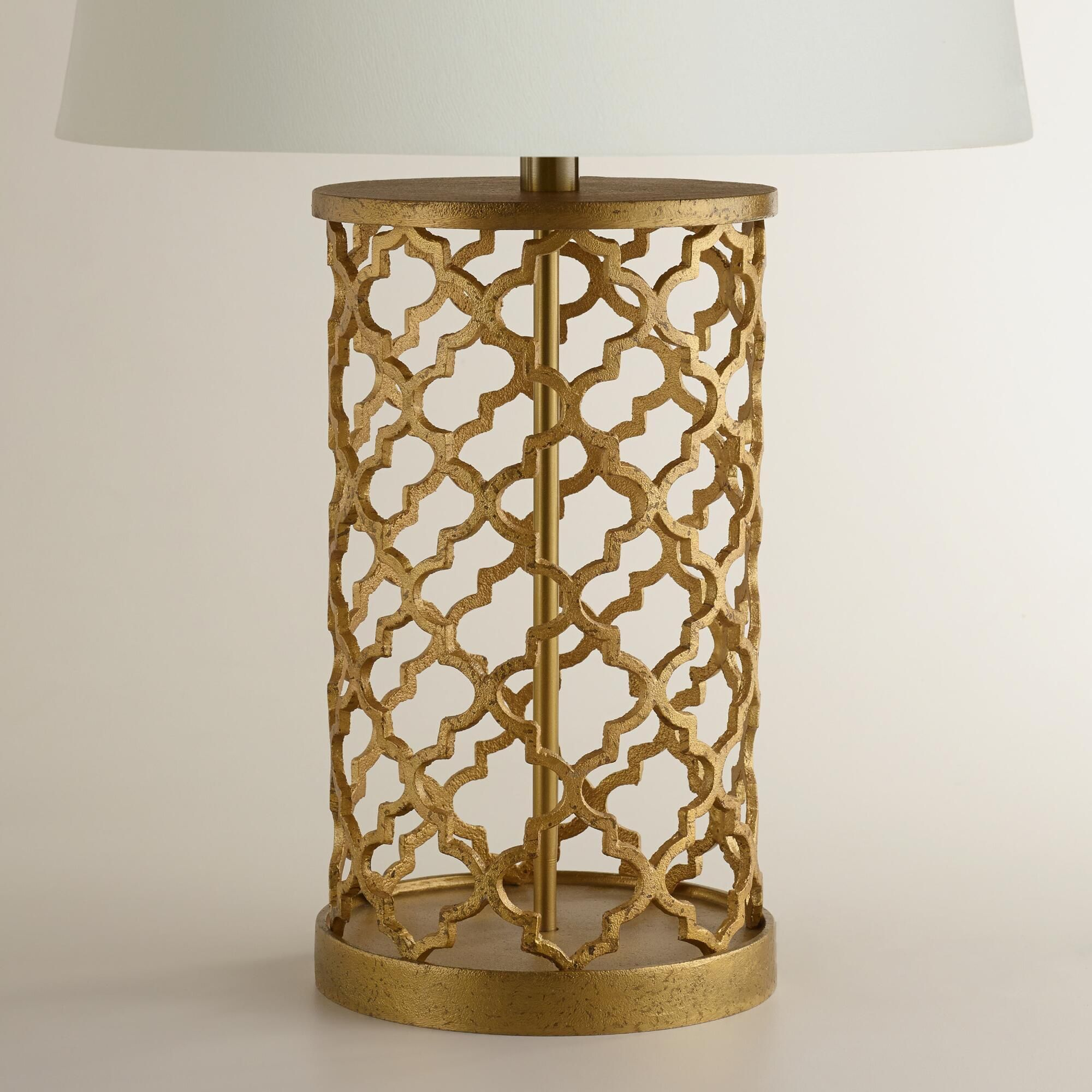 $50 plus shade. Distressed Gold Moroccan Table Lamp Base | World Market
