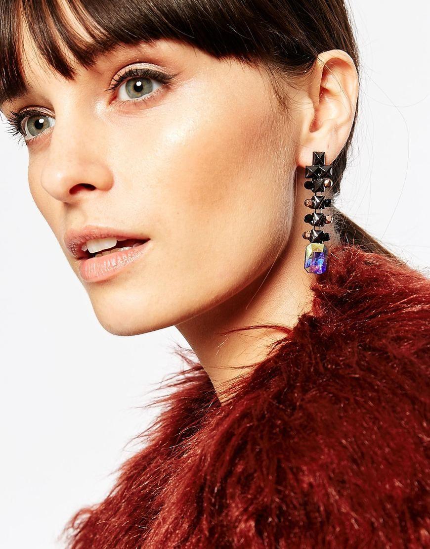Image 3 ofNali Rectangular Stone Earrings