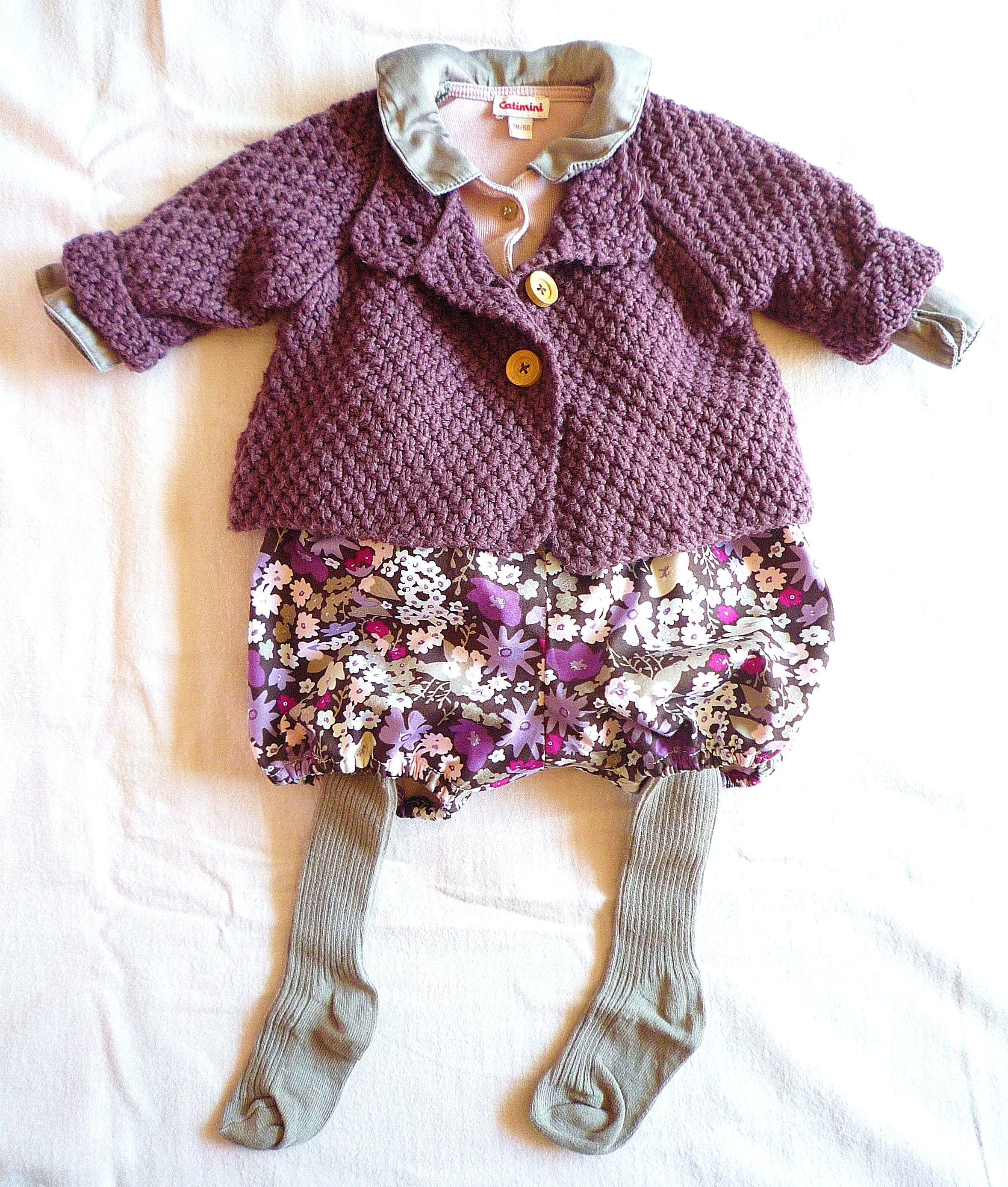 """Tenue hiver automne bébé. Bloomer """"made in home""""..."""