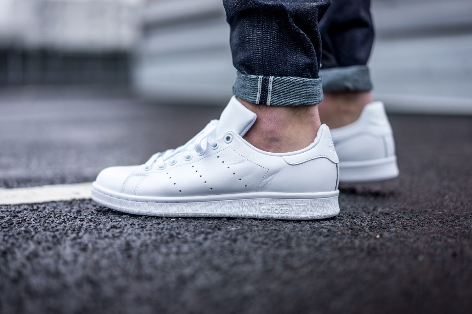 the latest b9cc9 d5c91 adidas Just Dropped All-White Stan Smiths | Style | Stan ...
