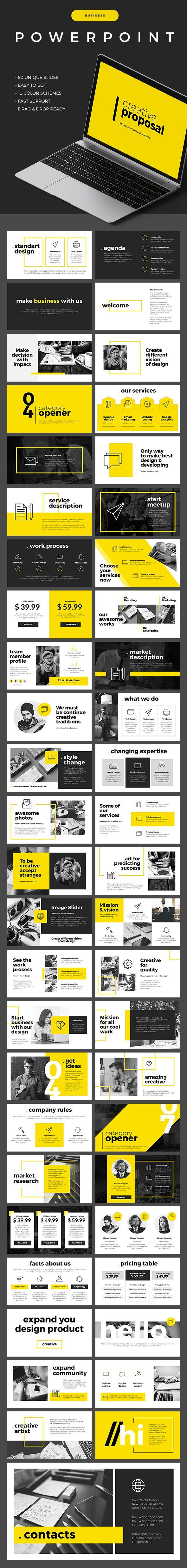 Business Powerpoint Template - 50 Unique Slides #powerpoint
