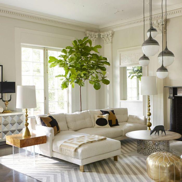 wohntrends wohnzimmer weißes interieur pendelleuchten | Wohnzimmer ...