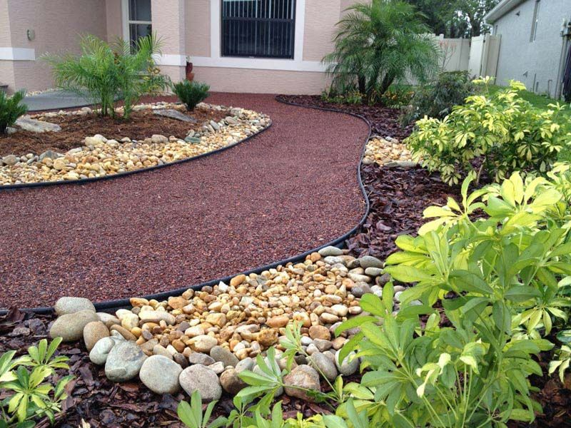 Amazing of front yard landscaping ideas without grass no for Designing with grasses